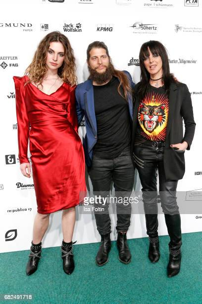 German singer Nena with her daughter Larissa Freitag and her boyfriend Philipp Palm attend the GreenTec Awards at ewerk on May 12 2017 in Berlin...