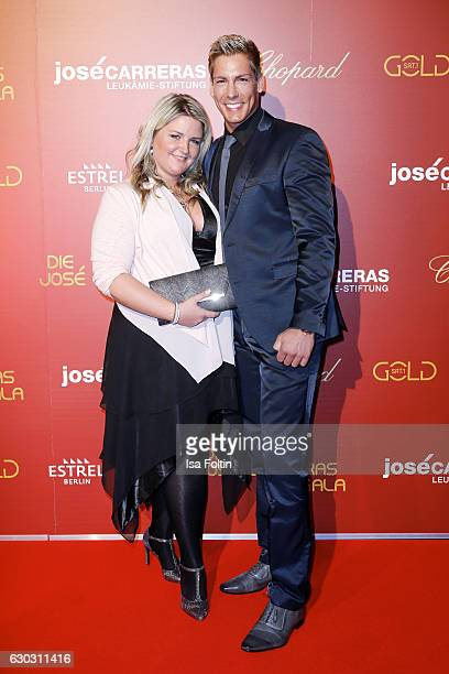 German singer Norman Langen and his girlfriend Verena DeHaan attend the 22th Annual Jose Carreras Gala on December 14 2016 in Berlin Germany