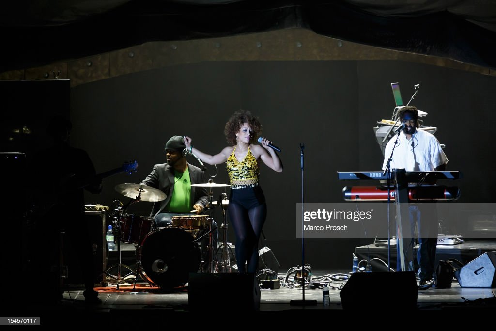 German singer Oceana performs live as support act for Lionel Richie at the Arena on October 22, 2012 in Leipzig, Germany.