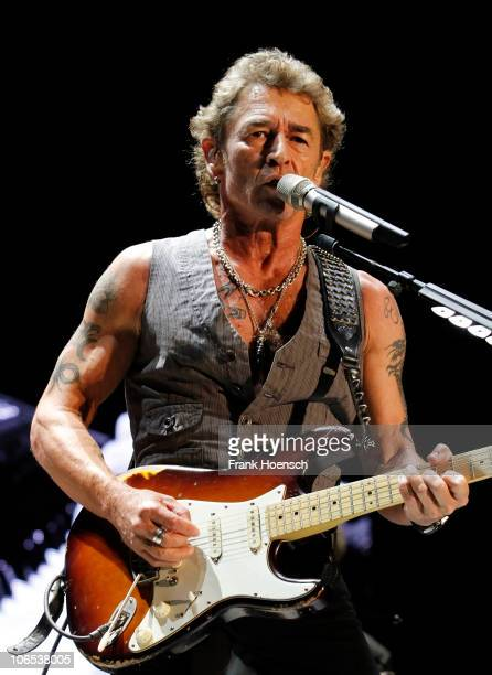 German singer Peter Maffay performs live during a concert at the O2 World on November 4 2010 in Berlin Germany