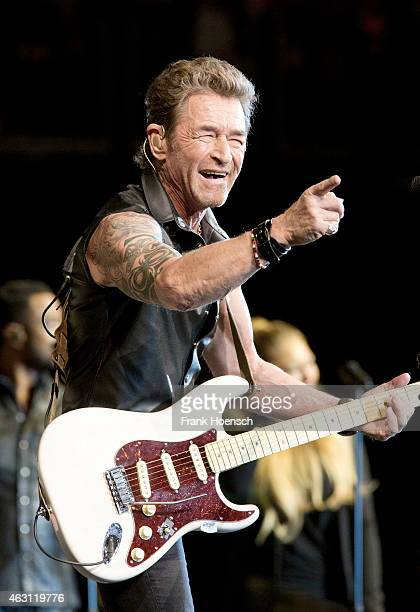 German singer Peter Maffay performs live during a concert at the O2 World on February 7 2015 in Berlin Germany