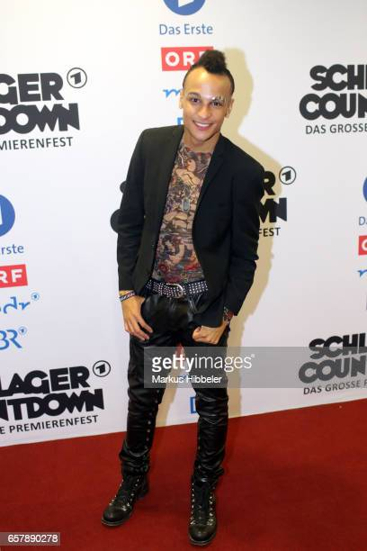 German singer Prince Damien poses during the show 'Schlagercountdown Das grosse Premierenfest' at EWE Arena on March 25 2017 in Oldenburg Germany