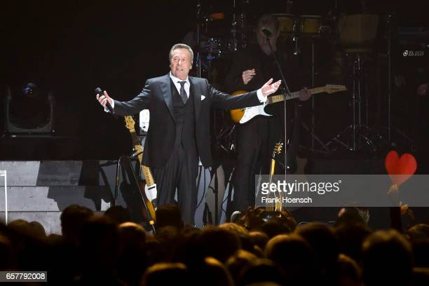 German singer Roland Kaiser performs live during a concert at the MercedesBenz Arena on March 25 2017 in Berlin Germany