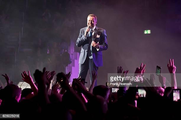 German singer Roland Kaiser performs live during 'Die Schlagernacht des Jahres' at the MercedesBenz Arena on November 19 2016 in Berlin Germany