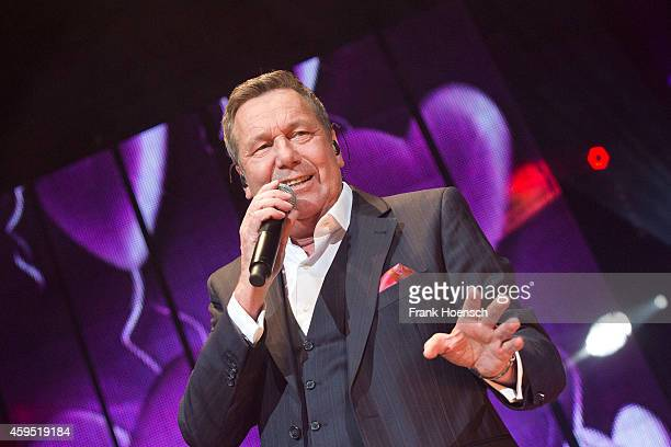 German singer Roland Kaiser performs live during the 'Schlagernacht des Jahres' at the O2 World on November 22 2014 in Berlin Germany