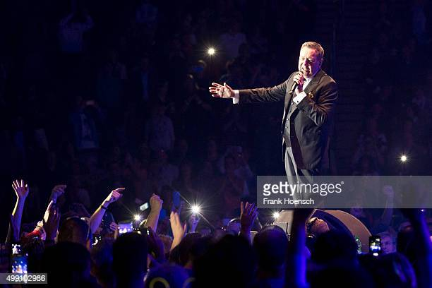 German singer Roland Kaiser performs live during the Schlagernacht des Jahres at the MercedesBenz Arena on November 21 2015 in Berlin Germany
