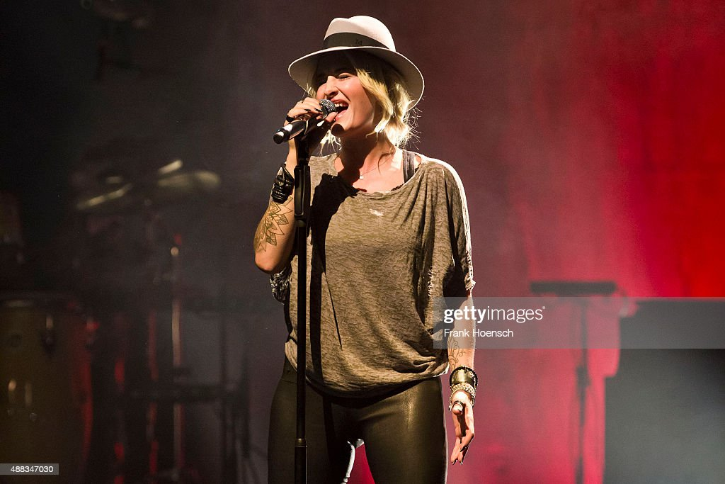 German singer Sarah Connor performs live during a concert at the Admiralspalast on September 15 2015 in Berlin Germany