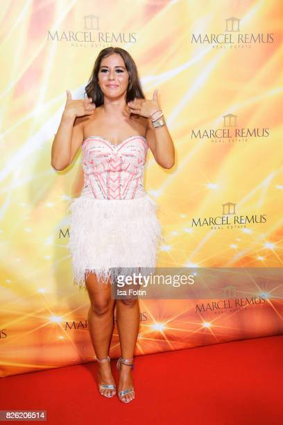 German singer Sarah Lombardi attends the Remus Lifestyle Night on August 3 2017 in Palma de Mallorca Spain