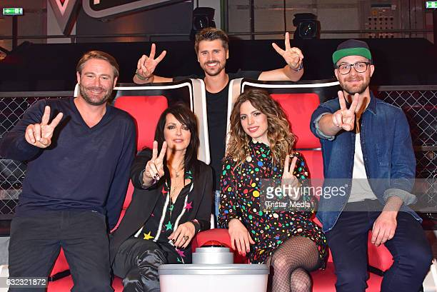 German singer Sasha german singer Nena and her daughter Larissa Kerner german moderator Thore Schoelermann and german singer Mark Forster during the...