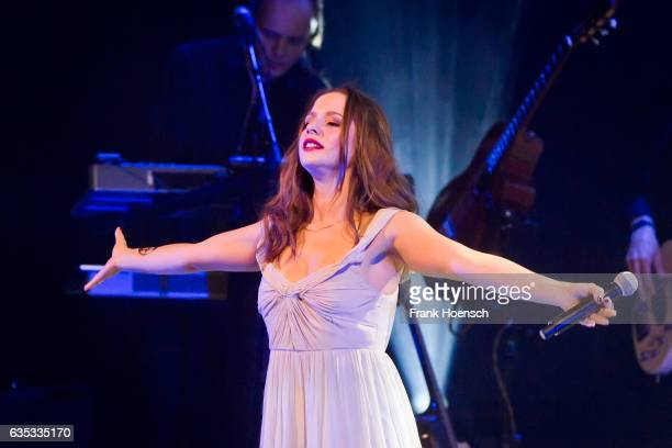 German singer SentaSofia Delliponti aka Oonagh performs live during a concert at the Admiralspalast on February 14 2017 in Berlin Germany