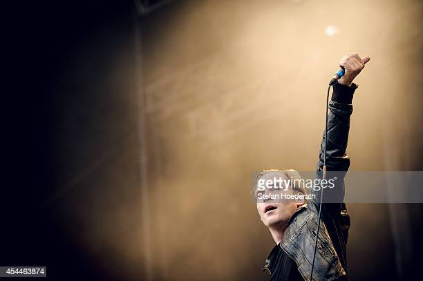 German singer Thees Uhlmann performs live on stage during day 1 of the Greenville Festival on July 26 2013 in Paaren im Glien near Nauen Germany