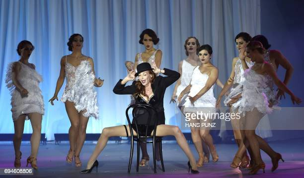 German singer Ute Lemper performs during the 24th Life Ball at the Rathausplatz in Vienna on 10 June 2017 Life Ball is Europe's largest annual AIDS...