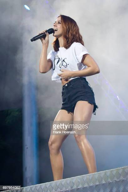 German singer Vanessa Mai performs live during the show 'Die Schlagernacht des Jahres' at the Waldbuehne on June 17 2017 in Berlin Germany