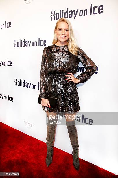 German singer Vanessa Meisinger attends the 'Holiday on Ice' gala at Hotel Atlantic on October 19 2016 in Hamburg Germany