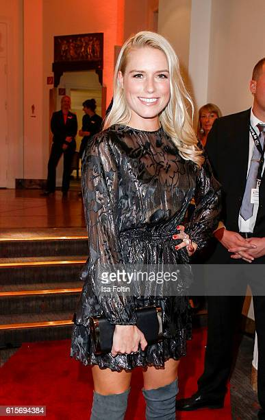 German singer Vanessa Meisinger attends the 'Holiday on Ice' gala at Hotel Atlantic on October 19 2016 in Hamburg Germany