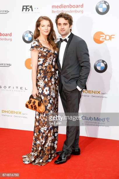 German singer Yvonne Caterfeld and her partner german actor Oliver Wnuk during the Lola German Film Award red carpet arrivals at Messe Berlin on...