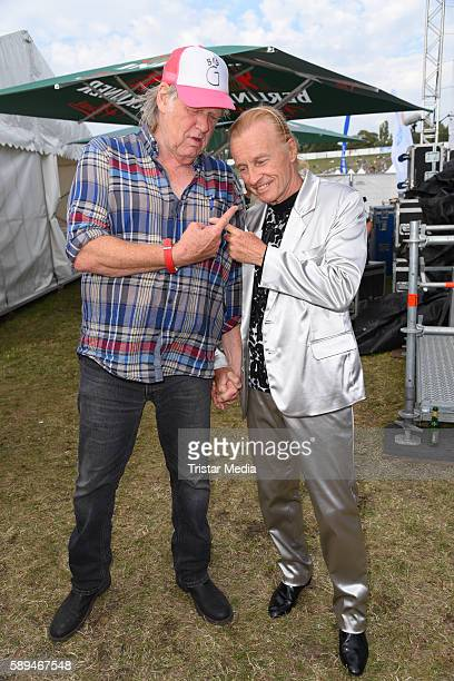 German singers Gunter Gabriel and Christian Anders during the SchlagerOlymp on August 13 2016 in Berlin Germany
