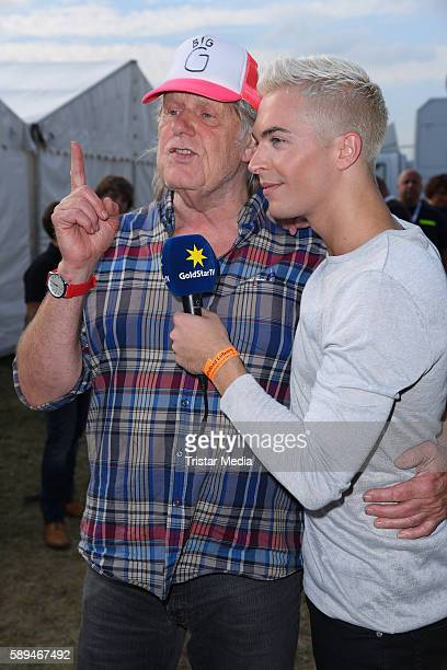 German singers Gunter Gabriel and Julian David during the SchlagerOlymp on August 13 2016 in Berlin Germany