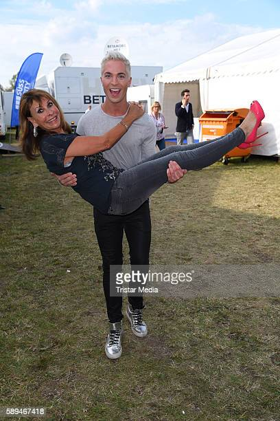 German singers Ireen Sheer and Julian David during the SchlagerOlymp on August 13 2016 in Berlin Germany