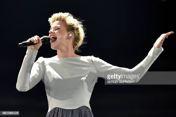 German singersongwriter representing Germany with the song 'Perfect life' Isabella Levina Luen aka Levina performs on stage during the Grand Final...
