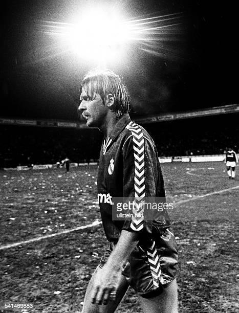 German soccer player Bernd Schuster Club Real Madrid 1989
