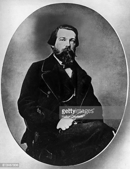 German socialist theorist Friedrich Engels who collaborated with Karl Marx on the 'Communist Manifesto'