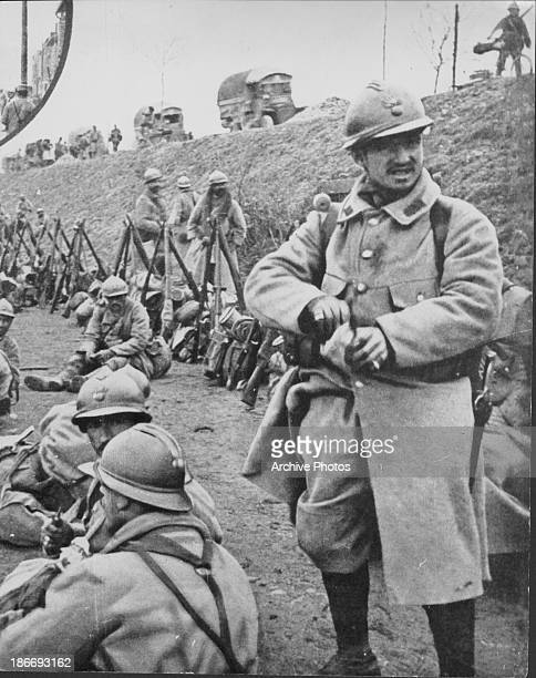 German soldiers at the Battle of Verdun during World War One France 1916 verdun battlefield