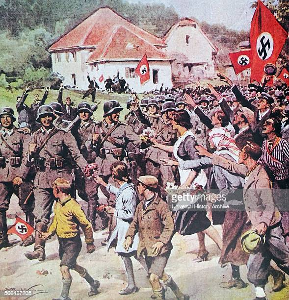 German soldiers enter the Sudeten land in 1938 The Sudeten crisis of 1938 was provoked by the demands of Nazi Germany that the Sudetenland be annexed...