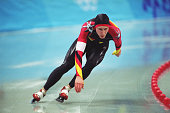 German speed skater Christian Breuer competes in the men's 500m final at MWave during the 1998 Winter Olympic games