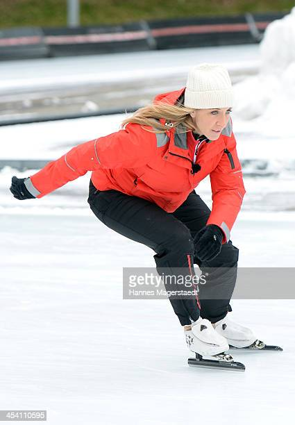 German speedskater Anni Friesinger attends 'Real Cool Runnings' Photocall on December 7 2013 in Munich Germany