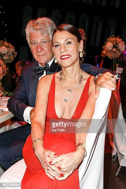 German sports moderator Marcel Reif and his wife Marion Kiechle attend the Leipzig Opera Ball 2016 on September 10 2016 in Leipzig Germany