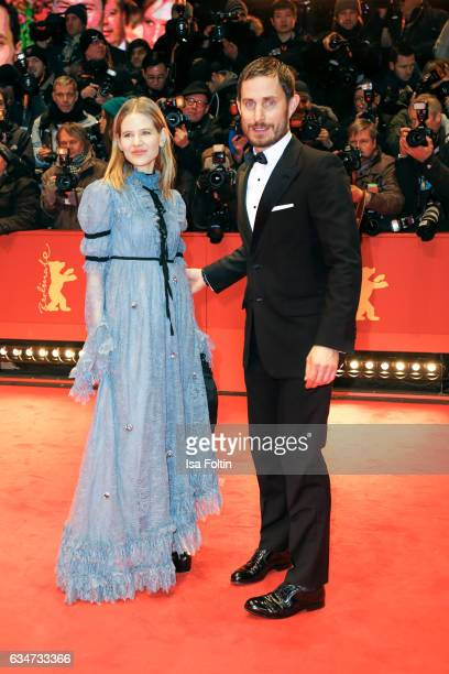 German stage designer Aino Laberenz and german actress Clemens Schick attend the 'Django' premiere during the 67th Berlinale International Film...