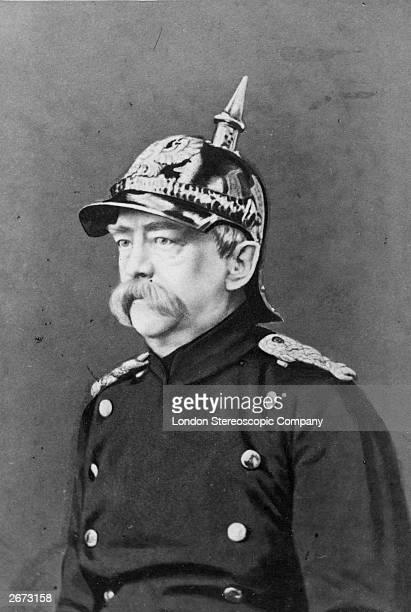 German statesman Count von Bismarck in uniform
