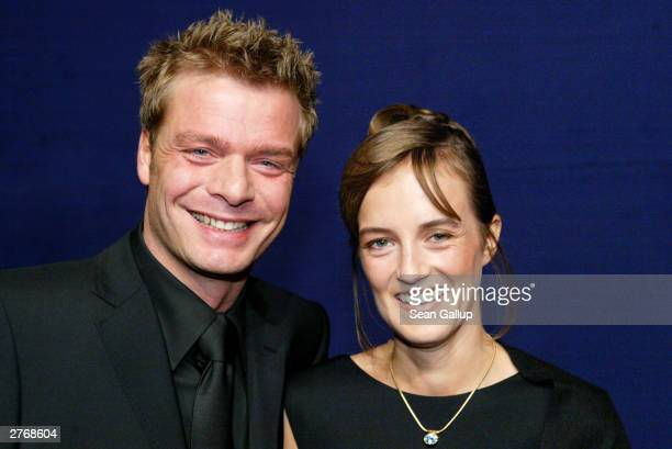 German television host Oliver Geissen and guest attend 'The Bambi Awards' on November 27 2003 in Hamburg Germany
