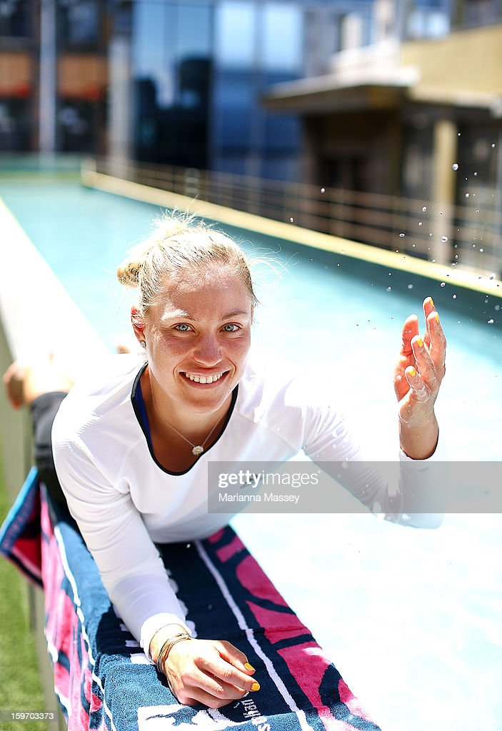 German tennis player Angelique Kerber poses for a portrait at the Adelphi Hotel during day six of the 2013 Australian Open at Melbourne Park on January 19, 2013 in Melbourne, Australia.