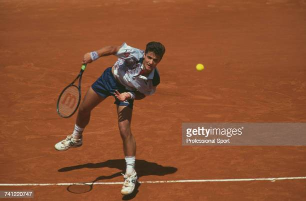German tennis player Hendrik Dreekmann pictured in action during progress to reach the quarterfinals of the Men's Singles tennis tournament at the...