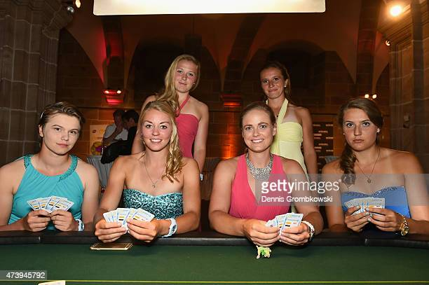 German Tennis players Katharina Gerlach Carina Witthoeft AnnaLena Friedsam AnnaLena Groenefeld Annika Beck and Antonia Lottner pose during the...