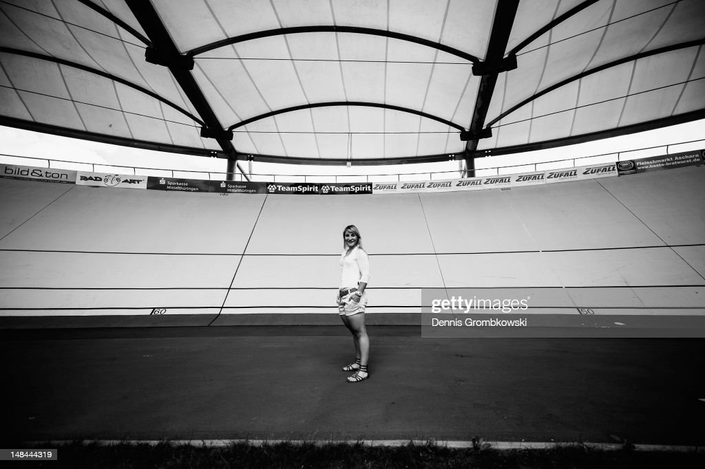 German track cycling athlete <a gi-track='captionPersonalityLinkClicked' href=/galleries/search?phrase=Kristina+Vogel&family=editorial&specificpeople=5779542 ng-click='$event.stopPropagation()'>Kristina Vogel</a> poses during a portrait session on July 9, 2012 in Erfurt, Germany.