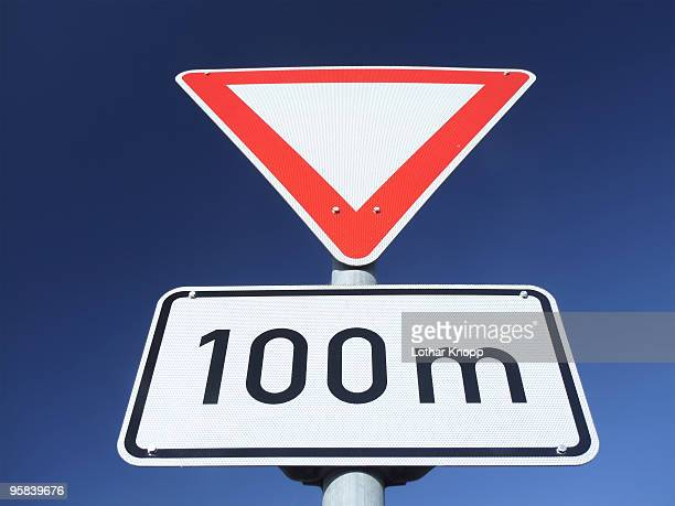 German Traffic sign Yield - Vorfahrt beachten