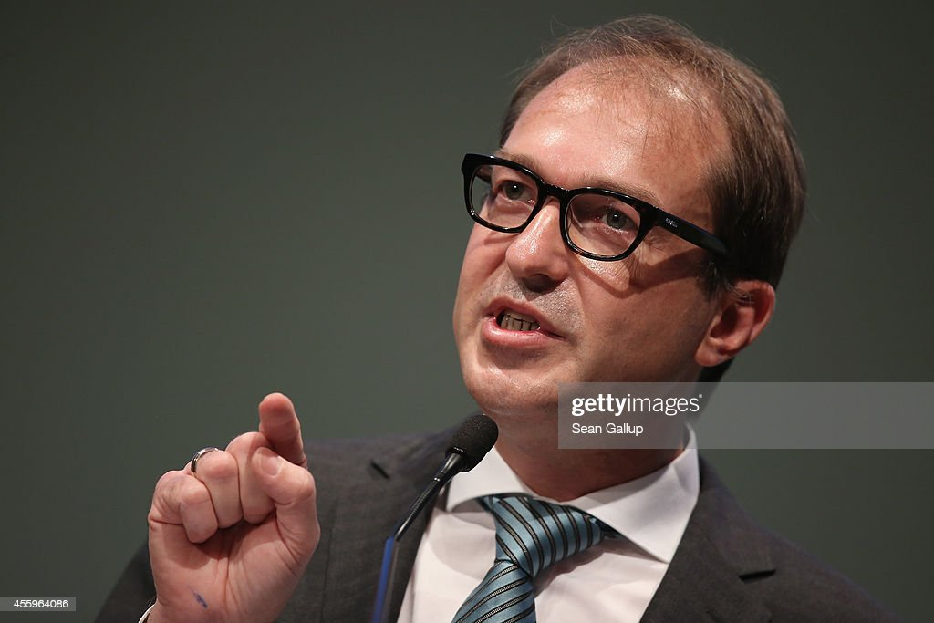 German Transport and Digital Technologies Minister <a gi-track='captionPersonalityLinkClicked' href=/galleries/search?phrase=Alexander+Dobrindt&family=editorial&specificpeople=5702301 ng-click='$event.stopPropagation()'>Alexander Dobrindt</a> speaks at the annual congress of the German Federation of Industry (BDI) on September 23, 2014 in Berlin, Germany. Dobrindt is currently pushing for the introduction of tolls on German highways, a move that is cauing intense controversy even within the current German government coalition. The BDI is the biggest umbrella organization of German manufacturers.