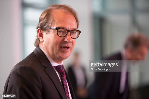 German Transport Minister Alexander Dobrindt arrives to attend the weekly cabinet meeting seen arriving for the weekly government cabinet meeting on...