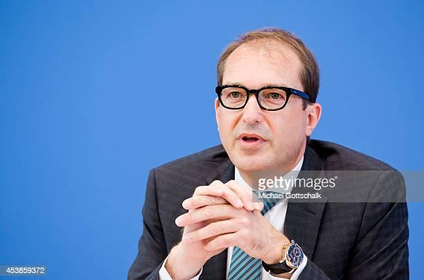 German Transport Minister Alexander Dobrindt attends the presentation of the federal digital agenda on August 20 2014 in Berlin Germany