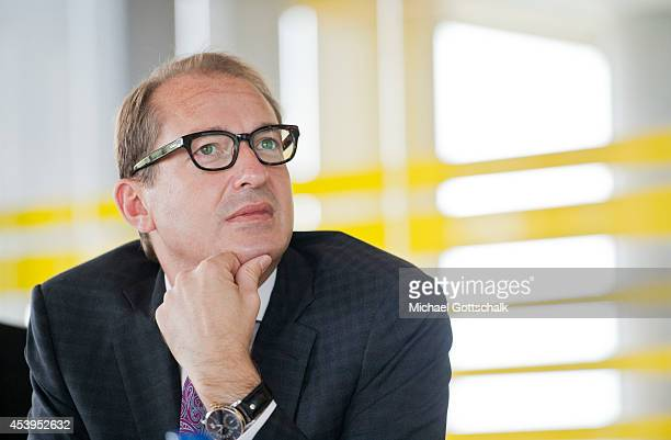 German Transport Minister Alexander Dobrindt during his visit to SAP Innovation Center on August 21 2014 in Potsdam Germany