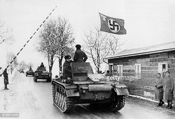 German troops cross the border at Pohrlitz March 16 1939 | Location Pohrlitz