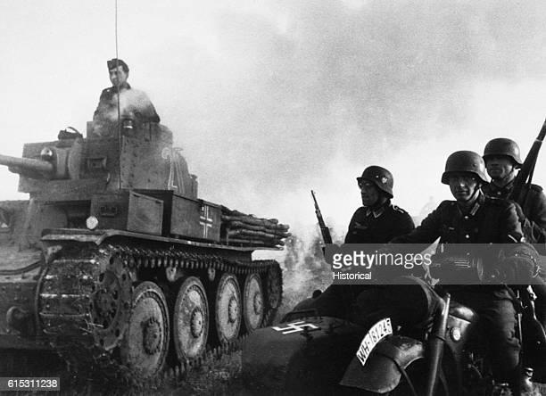 German Troops Fighting in France