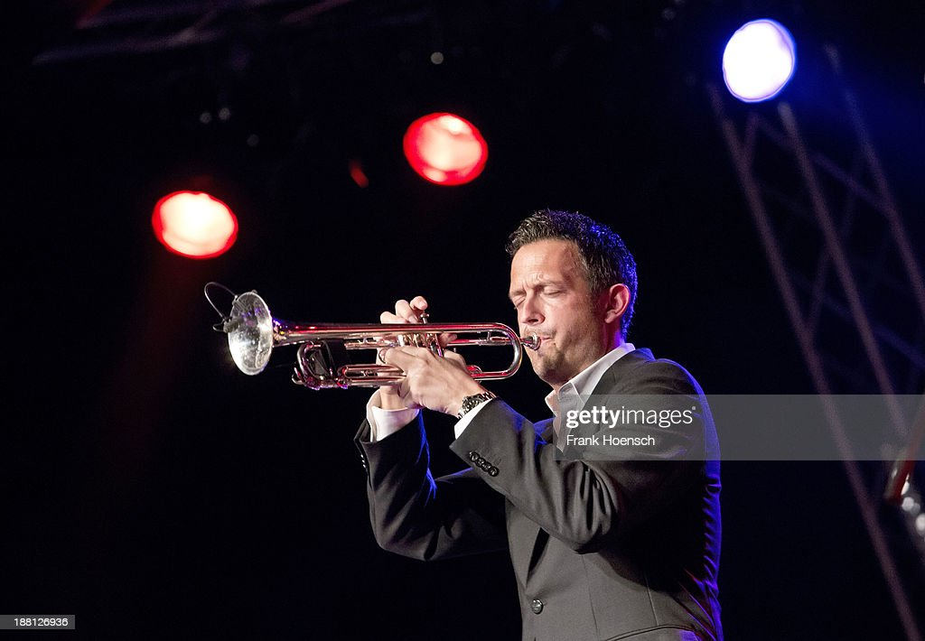German trumpeter Till Broenner performs live during a concert at the Postbahnhof on November 15, 2013 in Berlin, Germany.