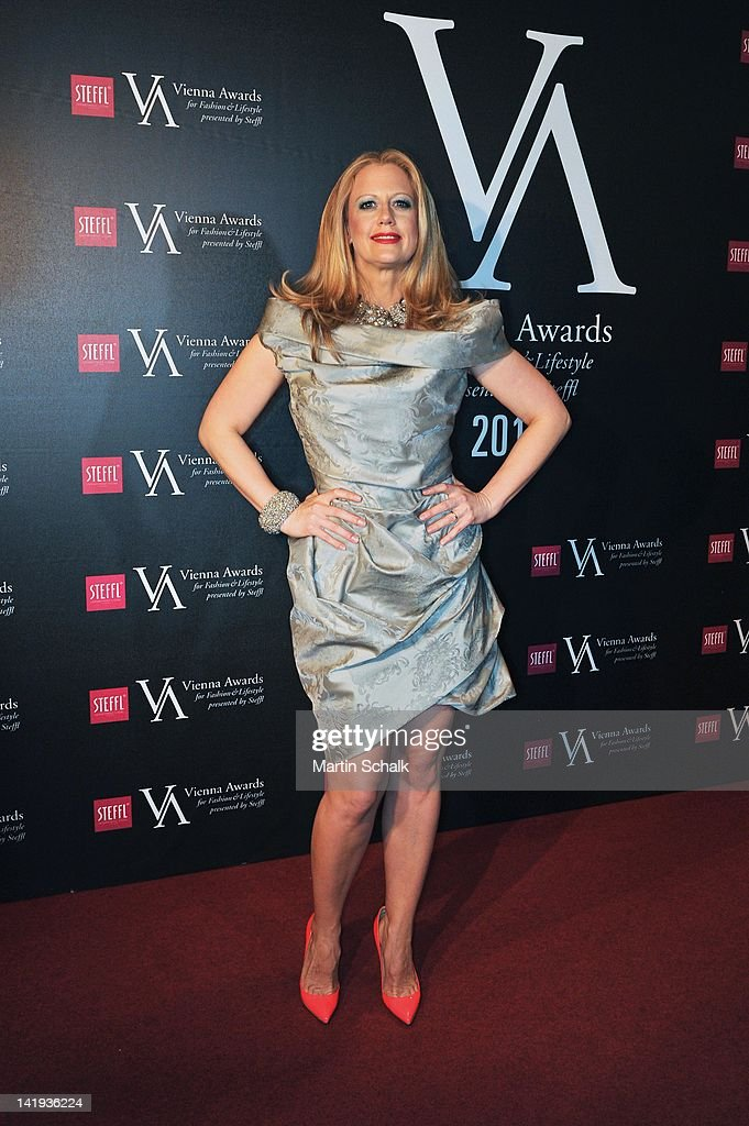 German TV presenter <a gi-track='captionPersonalityLinkClicked' href=/galleries/search?phrase=Barbara+Schoeneberger&family=editorial&specificpeople=220412 ng-click='$event.stopPropagation()'>Barbara Schoeneberger</a> attends the Vienna Awards For Fashion & Lifestyle at Museumsquartier on March 26, 2012 in Vienna, Austria.
