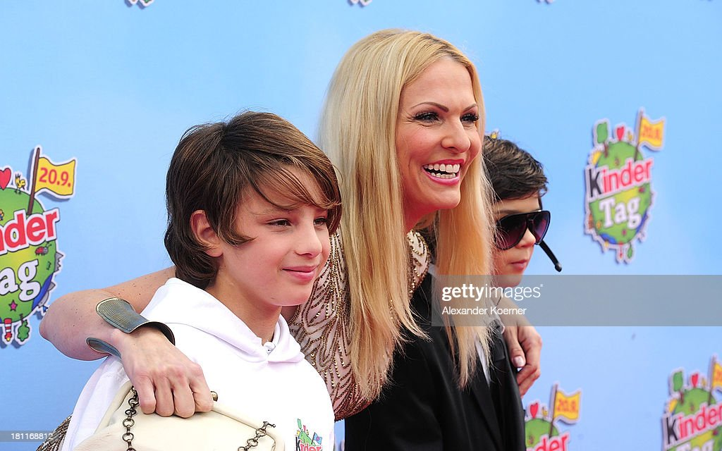 German TV presenter <a gi-track='captionPersonalityLinkClicked' href=/galleries/search?phrase=Sonya+Kraus&family=editorial&specificpeople=651120 ng-click='$event.stopPropagation()'>Sonya Kraus</a> attends the red carpet prior the Ferrero kinderTag 2013 event at Heidepark on September 19, 2013 in Soltau, Germany.