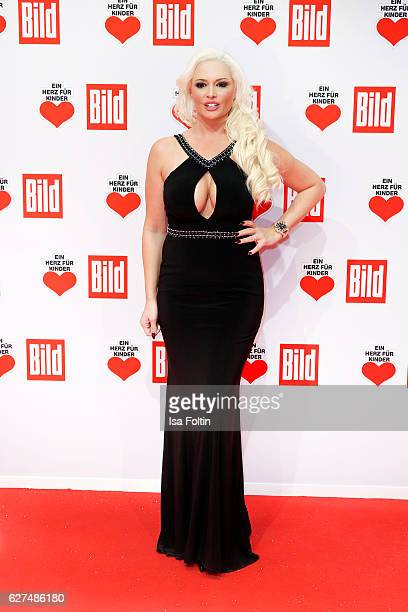 German TV star Daniela Katzenberger attend the Ein Herz Fuer Kinder gala on December 3 2016 in Berlin Germany