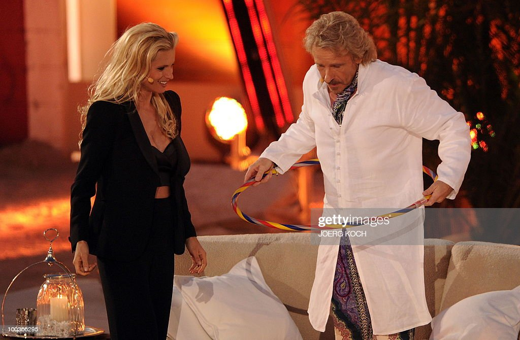 German tv-host Thomas Gottschalk and his